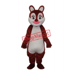Pink Nose Squirrels Mascot Adult Costume Free Shipping