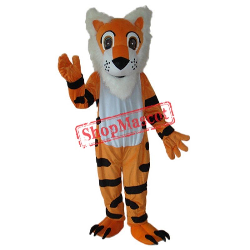 Long Beard Tiger Mascot Adult Costume Free Shipping