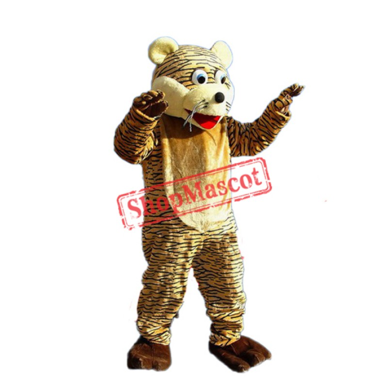 Lucky Tiger Mascot Adult Costume Free Shipping