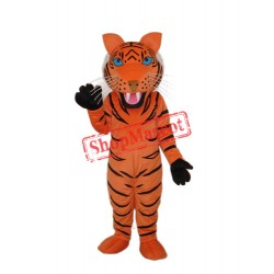 Red Brown Tiger Mascot Adult Costume Free Shipping