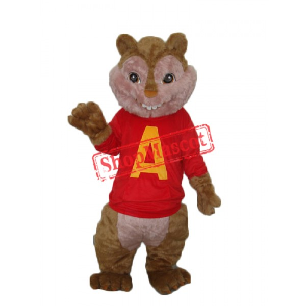 Alvin Chipmunk Mascot Adult Costume Free Shipping