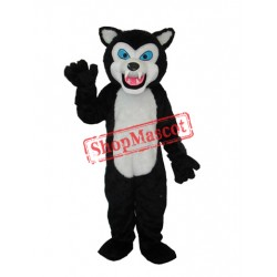Black Wolf Adult Mascot Costume Free Shipping