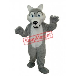Long-haired wolf Mascot Adult Costume Free Shipping