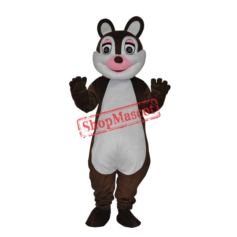 Cute little Squirrel Adult Mascot Costume Free Shipping