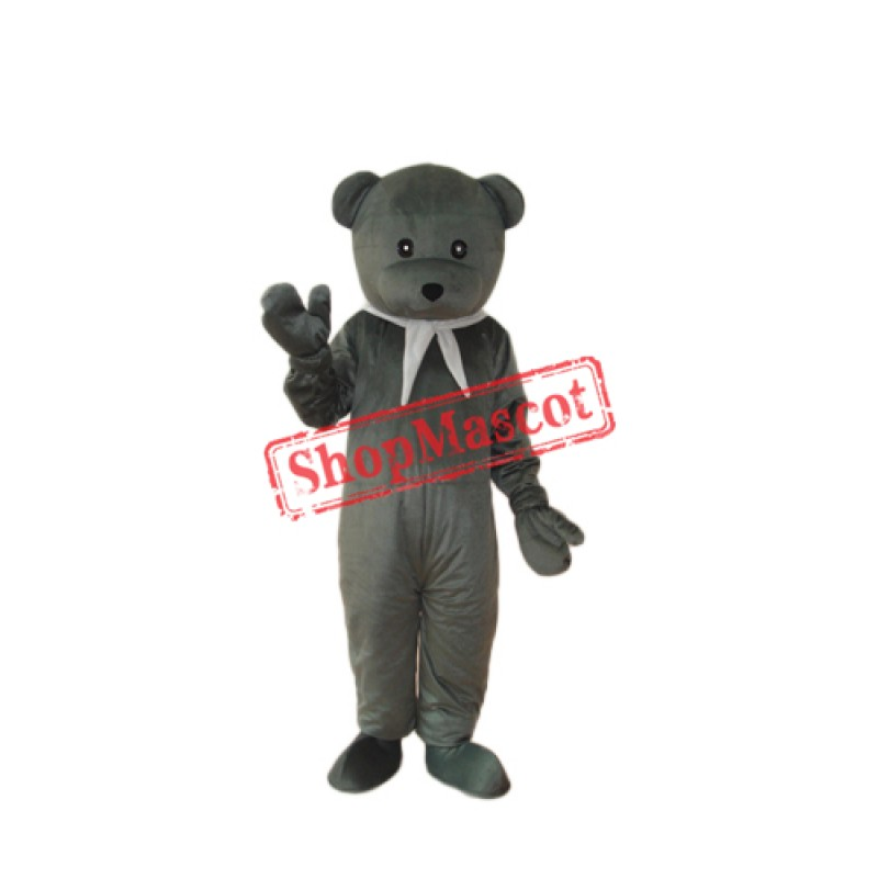 Gray Cook Bear Mascot Adult Costume Free Shipping