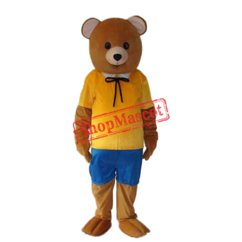 leisure Version Teddy Bear Mascot Adult Costume Free Shipping