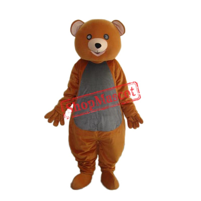 Brown Teddy Bear Mascot Adult Costume Free Shipping