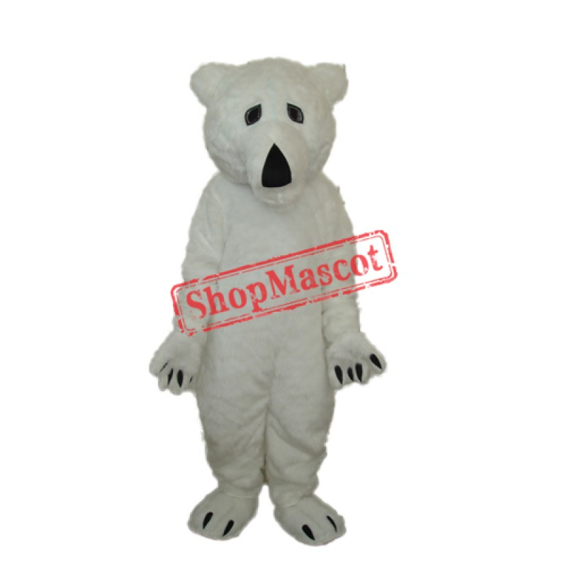Long Wool Polar Bear Mascot Adult Costume Free Shipping