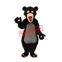 Long-haired Black Bear Mascot Adult Costume Free Shipping