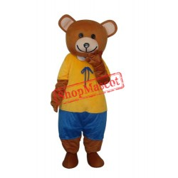 New Ribbon Teddy Bear Mascot Adult Costume Free Shipping