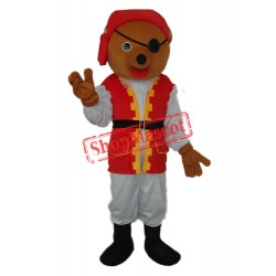 Pirate Bear Mascot Adult Costume Free Shipping