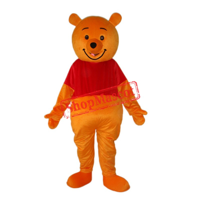 Pooh Bear Mascot Adult Costume Free Shipping