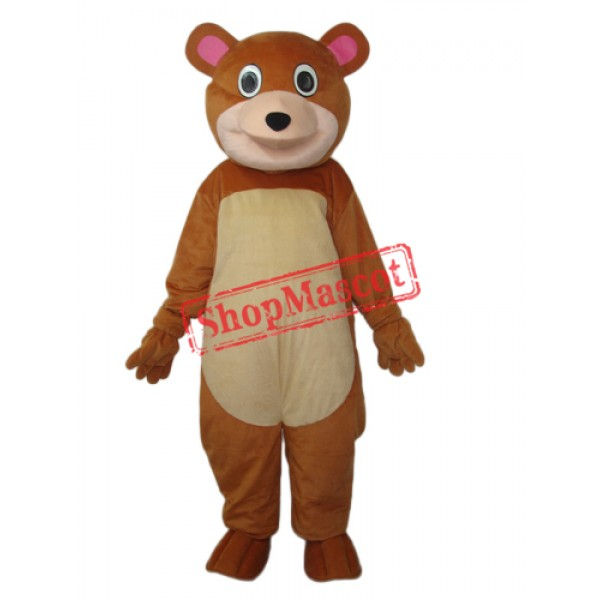 Round Mouth Bear Mascot Adult Costume Free Shipping