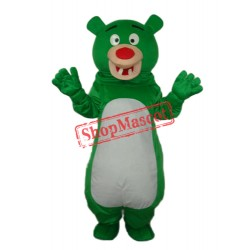 Short-haired Green Bear Mascot Adult Costume Free Shipping