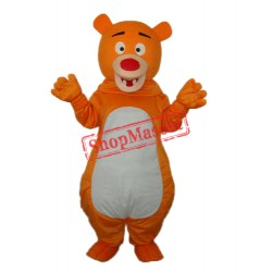 Short-haired Orange Bear Mascot Adult Costume Free Shipping