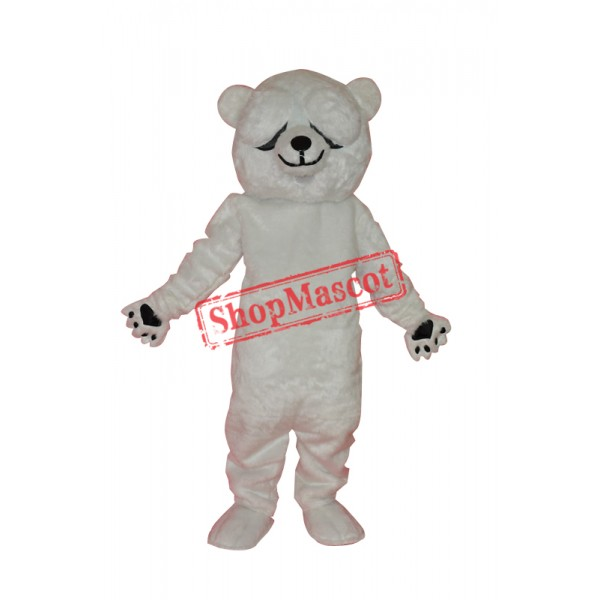Simple and honest polar bears adult mascot costume Free Shipping