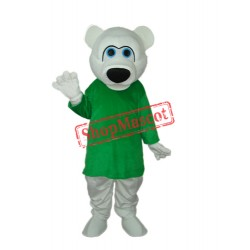 Strange White Bear Mascot Adult Costume Free Shipping