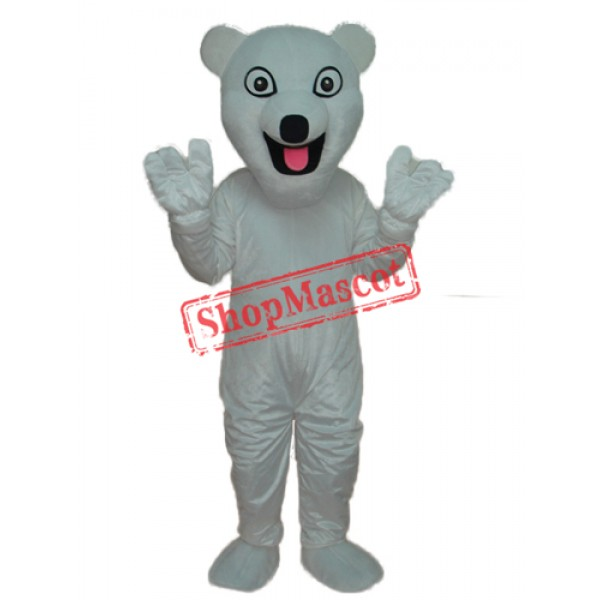 The New Polar Bear Mascot Adult Costume Free Shipping