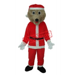 Christmas Bear Mascot Adult Costume Free Shipping
