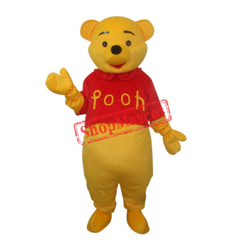 Winnie the Pooh Mascot Adult Costume Free Shipping