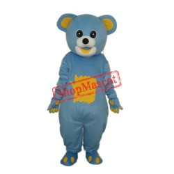 Yellow Belly Blue Bear Mascot Adult Costume Free Shipping
