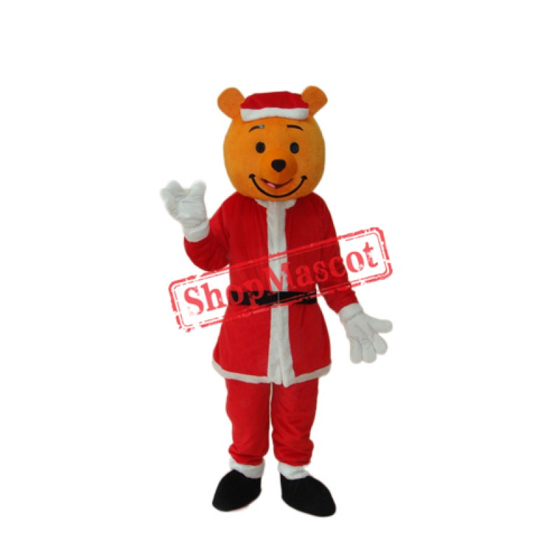Yellow Christmas Bear Mascot Adult Costume Free Shipping