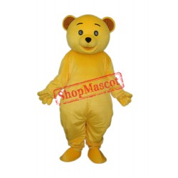 Yellow Teddy Bear Mascot Adult Costume Free Shipping