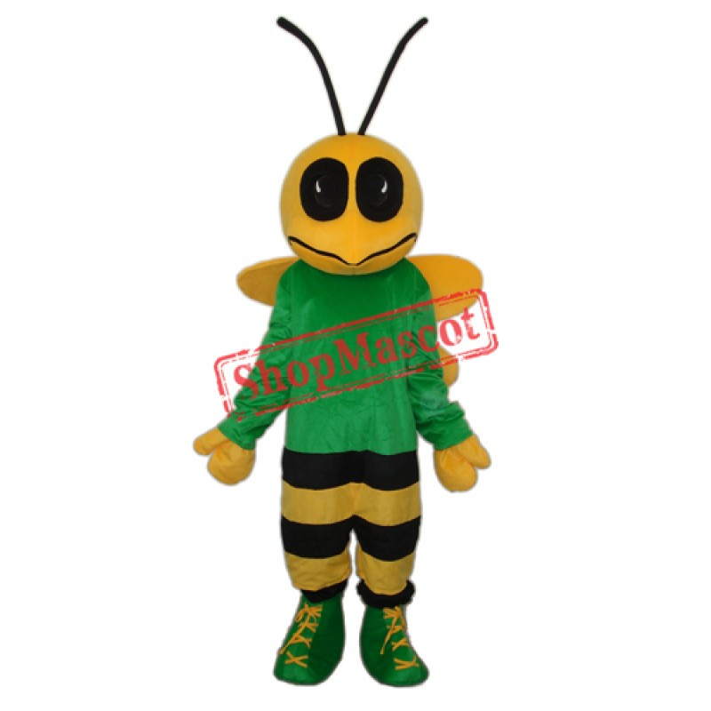 Green Bee Mascot Adult Costume Free Shipping
