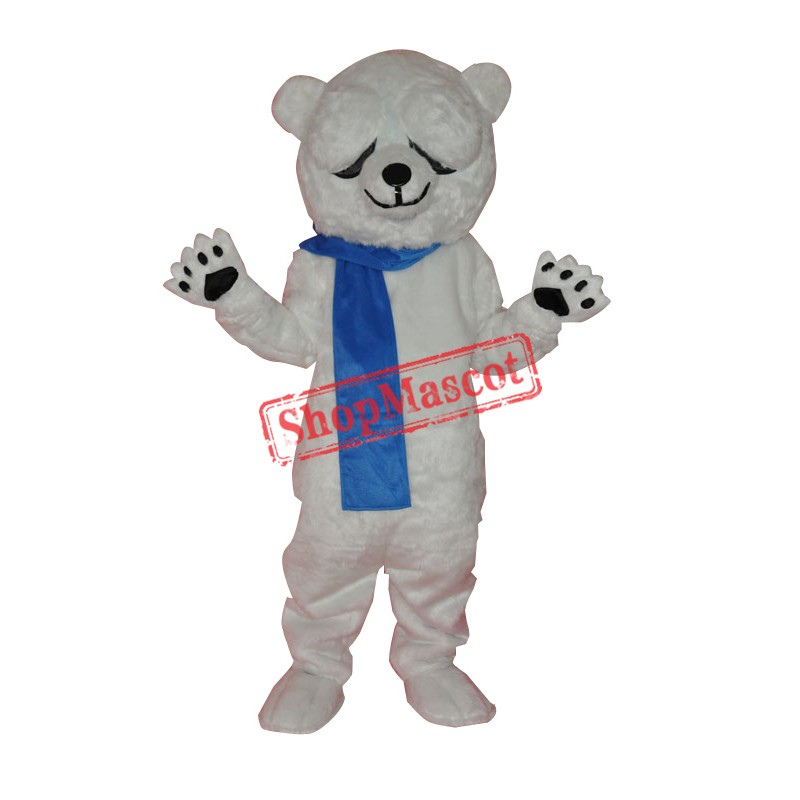 Cute Polar Bear Adult Mascot Costume Free Shipping