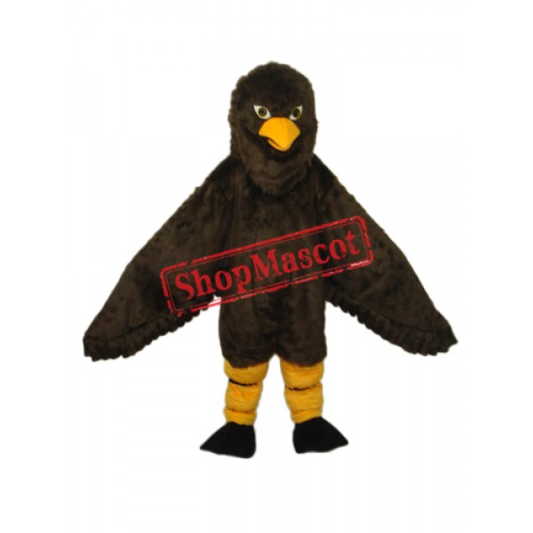 Long-haired Brown Eagle Mascot Adult Costume Free Shipping