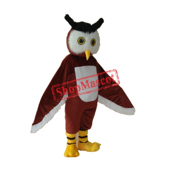 Owl Mascot Adult Costume Free Shipping
