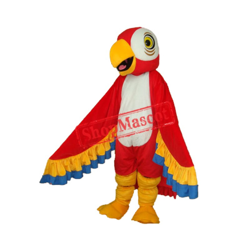 Red Parrot Mascot Adult Costume Free Shipping