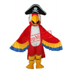 Red Pirate Parrot with Tail Mascot Adult Costume Free Shipping