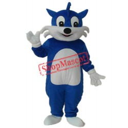 Blue Cat Mascot Adult Costume Free Shipping