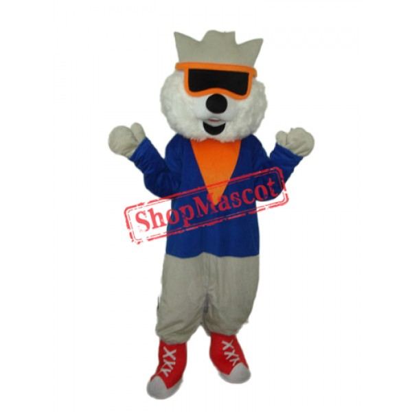 Cat Wear Glasses Mascot Adult Costume Free Shipping