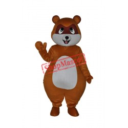 Cute Yellow Brown Civet Cat Mascot Costume Free Shipping