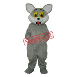 Grey Cat Mascot Adult Costume Free Shipping