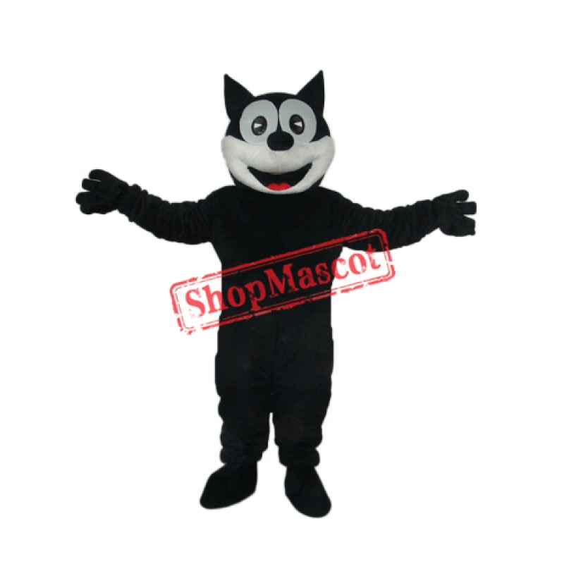 Happy Cat Mascot Adult Costume Free Shipping