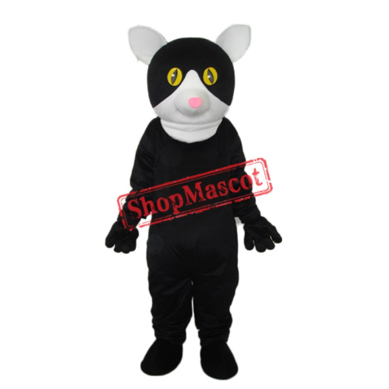 Little Black Cat Mascot Adult Costume Free Shipping