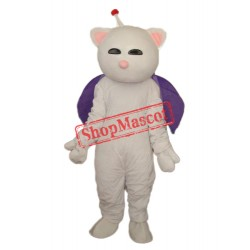 Pink Nose White Cat Mascot Adult Costume Free Shipping