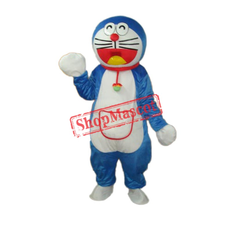 Red Side Pocket Doraemon Mascot Adult Costume Free Shipping