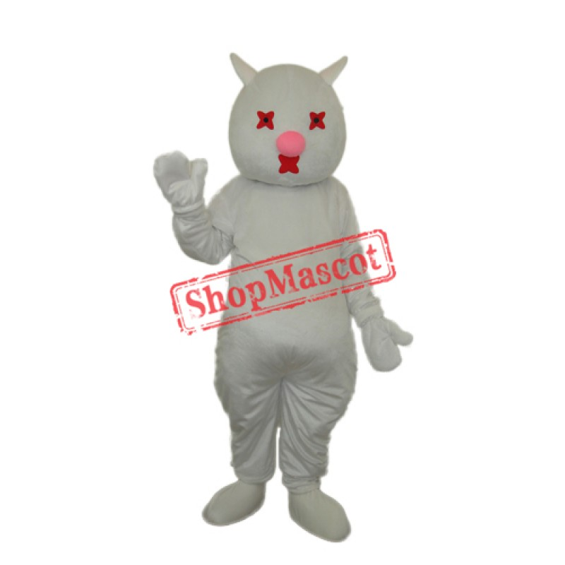 White Cat Mascot Adult Costume Free Shipping