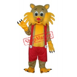 Yellow Face Cat Adult Mascot Costume Free Shipping