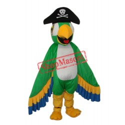 Green Pirate Parrot Mascot Adult Costume Free Shipping