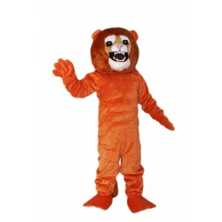 Orange Fierce Lion Mascot Costume on Clearance