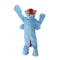 Blue Pony Horse Mascot Costume on Clearance