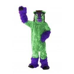 Green Pony Horse Mascot Costume on Clearance