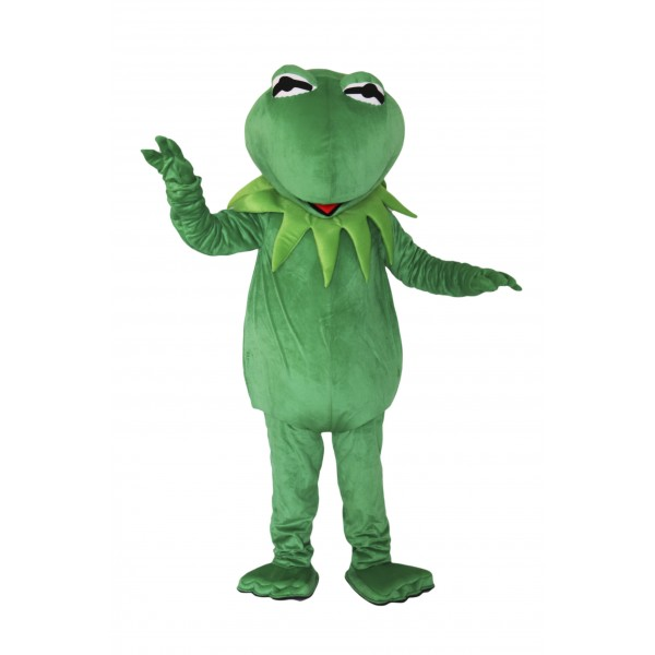 Green Frog Mascot Costume on Clearance