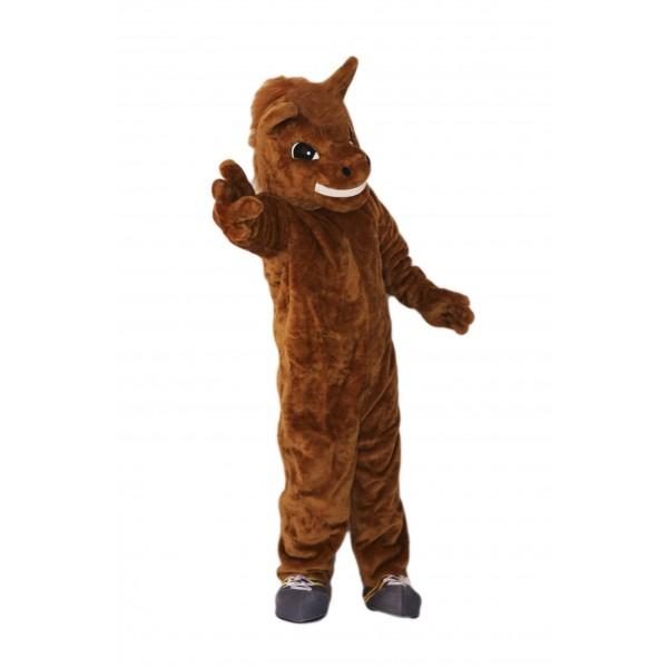 Brown Horse Mascot Costume on Clearance
