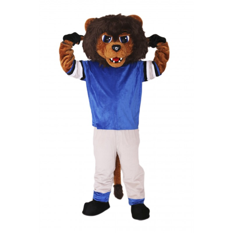 Brown Gentle Lion Mascot Costume on Clearance
